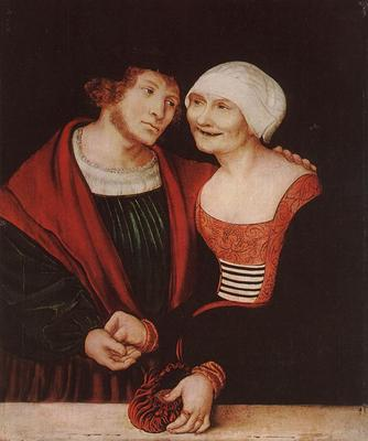 CRANACH Lucas the Elder Amorous Old Woman And Young Man