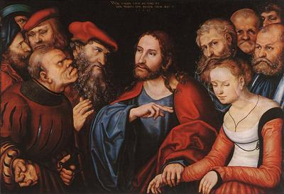 CRANACH Lucas the Elder Christ And The Adulteress
