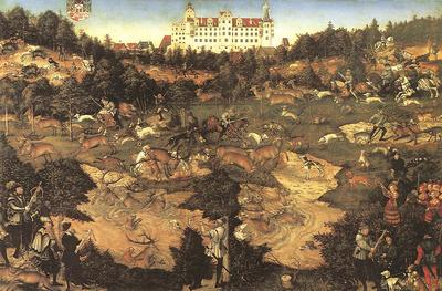 CRANACH Lucas the Elder Hunt In Honour Of Charles V At The Castle Of Torgau