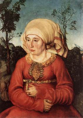 CRANACH Lucas the Elder Portrait Of Frau Reuss