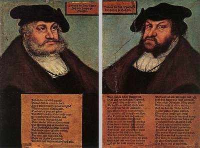 CRANACH Lucas the Elder Portraits Of Johann I And Frederick III