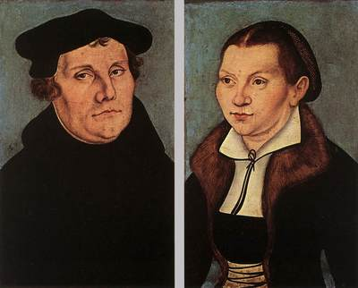 CRANACH Lucas the Elder Portraits Of Martin Luther And Catherine Bore