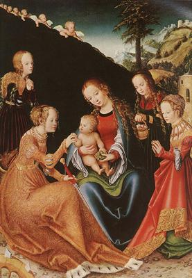 CRANACH Lucas the Elder the Mystic Marriage Of St Catherine