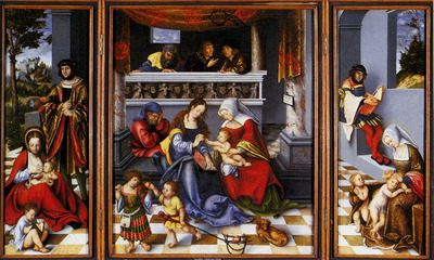 Cranach Lucas Altar Of The Holy Family