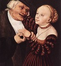 CRANACH Lucas the Elder Old Man And Young Woman