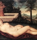 CRANACH Lucas the Elder Reclining River Nymph At The Fountain