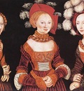 CRANACH Lucas the Elder Saxon Princesses Sibylla Emilia And Sidonia