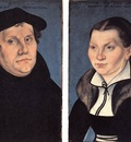 CRANACH Lucas the Elder diptych With The Portraits Of Luther And His Wife