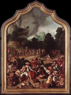 LUCAS van Leyden Worshipping Of The Golden Calf
