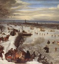 VALKENBORCH Lucas van View Of Antwerp With The Frozen