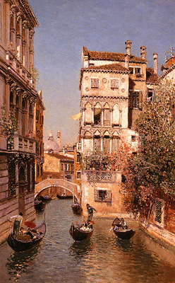 Ortega Martin Rico y Along The Canal, Venice