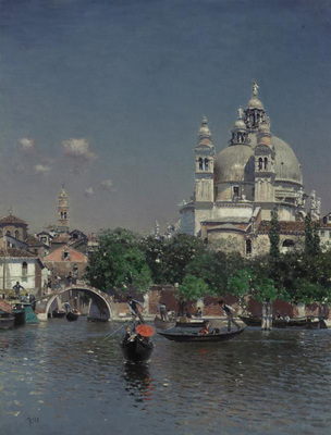 Ortega Martin Rico y Venetian Lagoon Near the Church of Santa Maria della Salute