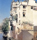 Ortega Martin Rico Y A Venetian Canal Scene
