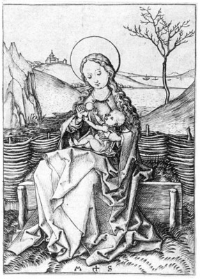SCHONGAUER Martin Madonna On The Turf Bench