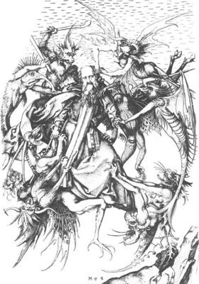 SCHONGAUER Martin Temptaion Of St Anthony