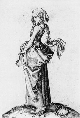 SCHONGAUER Martin The Fifth Foolish Virgin