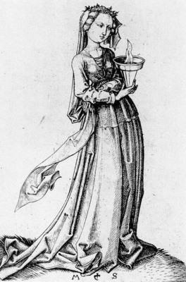 SCHONGAUER Martin The Fourth Wise Virgin