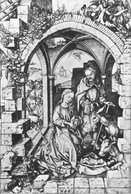 SCHONGAUER Martin The Nativity