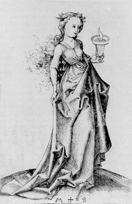SCHONGAUER Martin The Second Wise Virgin