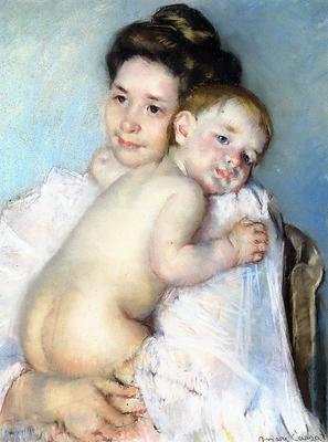 Cassatt Mary Mother Berthe Holding Her Baby