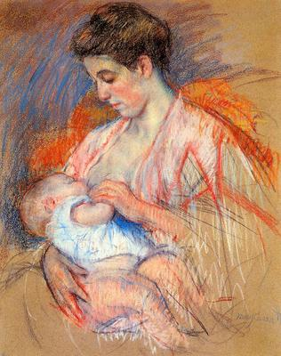 Cassatt Mary Mother Jeanne Nursing Her Baby