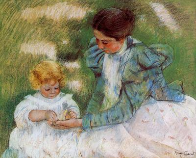 Cassatt Mary Mother Playing with Her Child