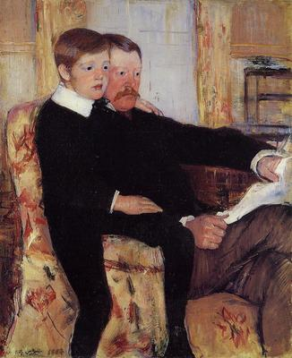 Cassatt Mary Portrait of Alexander J  Cassat and His Son Robert Kelso Cassatt