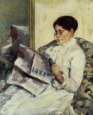 Cassatt Mary Portrait of a Lady aka Reading Le Figaro