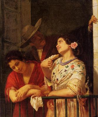 Cassatt Mary The Flirtation A Balcony in Seville