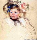 Cassatt Mary Head of Sara in a Bonnet Looking Left