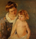 Cassatt Mary Jules Standing by His Mother