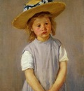 Cassatt Mary Little Girl in a Big Straw Hat and a Pinnafore