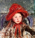 Cassatt Mary Little Girl in a Large Red Hat