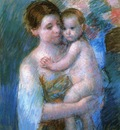 Cassatt Mary Mother Holding Her Baby