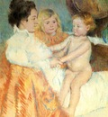 Cassatt Mary Mother Sara and the Baby counterproof
