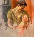 Cassatt Mary Mother and Child Smiling at Each Other