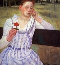 Cassatt Mary Reverie aka Woman with a Red Zinnia