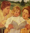 Cassatt Mary The Garden Reading