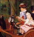 Cassatt Mary Woman and Child Driving
