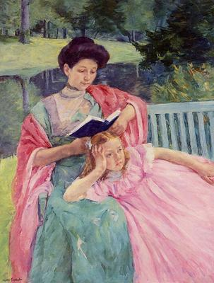 Cassatt Mary Auguste Reading to Her Daughter