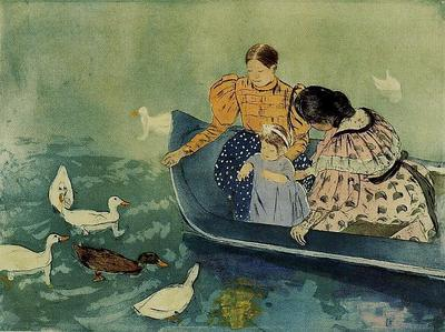 Cassatt Mary Feeding the Ducks