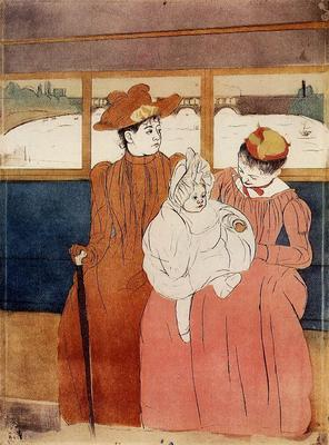 Cassatt Mary Interior of a Tramway Passing a Bridge