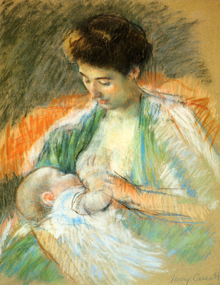 Cassatt Mary Mother Rose Nursing Her Child