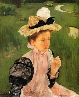Cassatt Mary Portrait Of A Young Girl