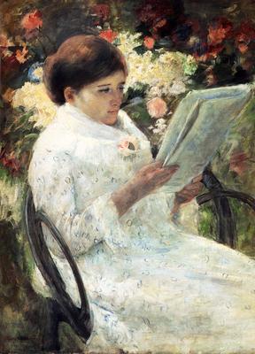 Cassatt Mary Woman Reading In A Garden