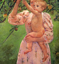 Cassatt Mary Baby Reaching For An Apple