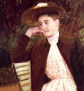 Cassatt Mary Celeste in a Brown Hat