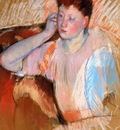 Cassatt Mary Clarissa Turned Left with Her Hand to Her Ear