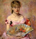 Cassatt Mary Lady with a Fan aka Portrait of Anne Charlotte Gaillard