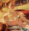 Cassatt Mary Woman With A Pearl Necklace In A Loge